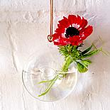 Glass Hanging Vase Doughnut designed in Australia by Love Hate