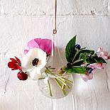 Glass Hanging Vase Teardrop designed in Australia by Love Hate