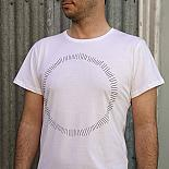 White Circle Mens T-shirt designed and made in Australia by me and amber