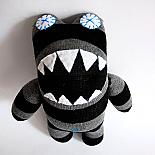 Completed Lil' Monster (Black & Grey Stripes) made by you from Craft Schmaft