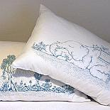 Elephant & Landscape Pillow Case Set by Dylan Martorell & Sunday Morning Designs