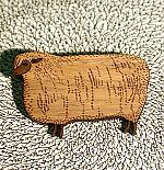 A Sheep Brooch by Bonnie Poplar