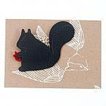 Squirrel Leather Brooch by Mingus