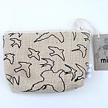 The Birds Standing Purse - Black on Natural by Mingus