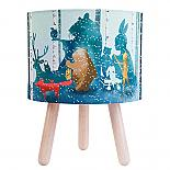 Wild Imagination Fabric Table Lamp in Blue - designed in Australia by Micky & Stevie