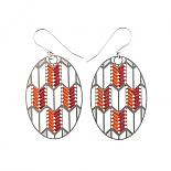 Woven Origami Arrow Earrings Reds by Polli