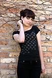 Pattern on Black T-shirt designed and made in Australia by Non-Fiction