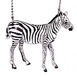 Articulated Zebra Necklace designed in Australia by Love Hate