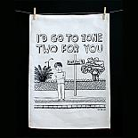 Tea Towel - Go to Zone Two - handmade in Melbourne by Able & Game