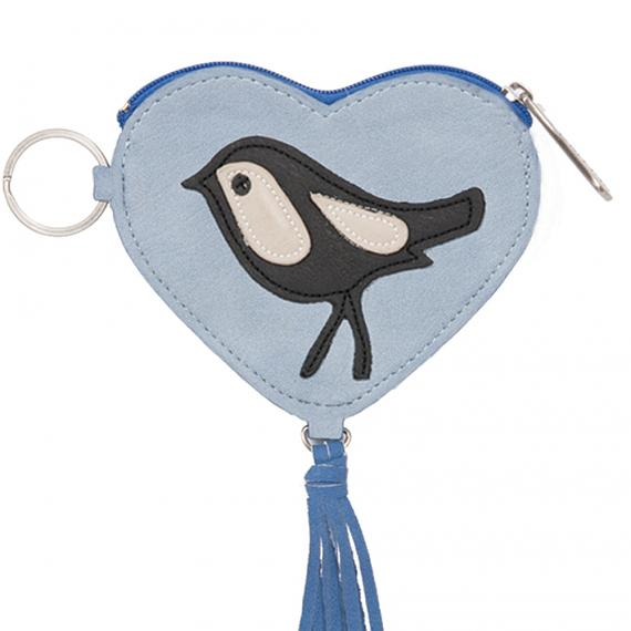 Keyring Coin Purse - Heart (Pale Blue) designed in Australia by b.sirius