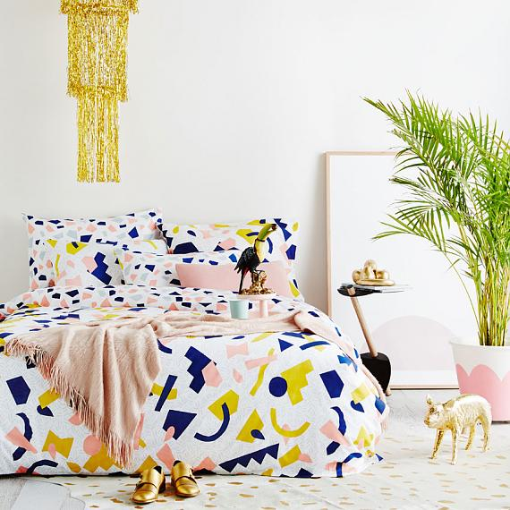 Tutti Frutti Reversible Collection - designed in Melbourne by Goosebumps Boutique Bedding