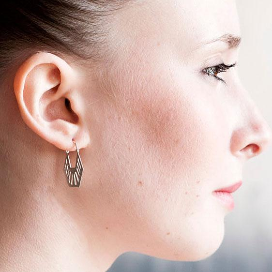 Deco Half Hex Earrings by Love Hate