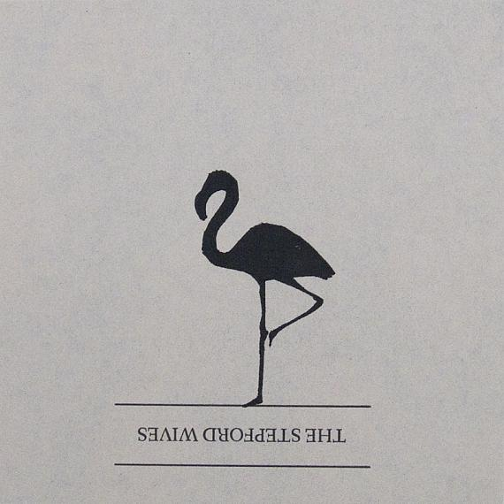 Single Flamingo Artwork - Square, Black by me and amber