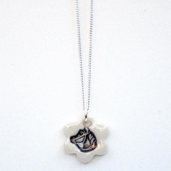 Dark Horse Pendant by Iggy and Lou Lou