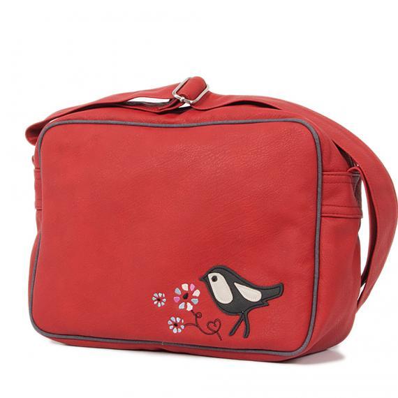 Messenger Bag - Checked Birds designed in Australia by b.sirius