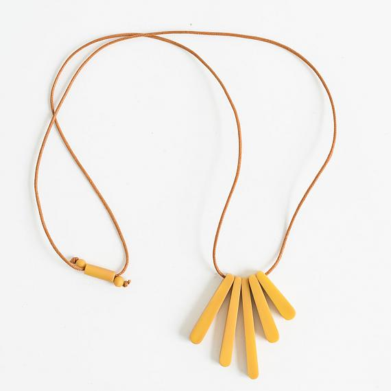 Bloom Necklace - Mustard Resin - handmade in Melbourne by mooku