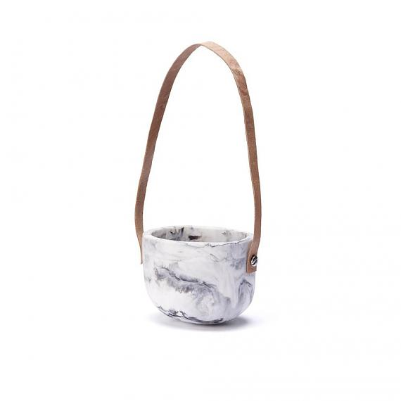 Capsule Planter Marble Resin - Small - designed in Melbourne by mooku