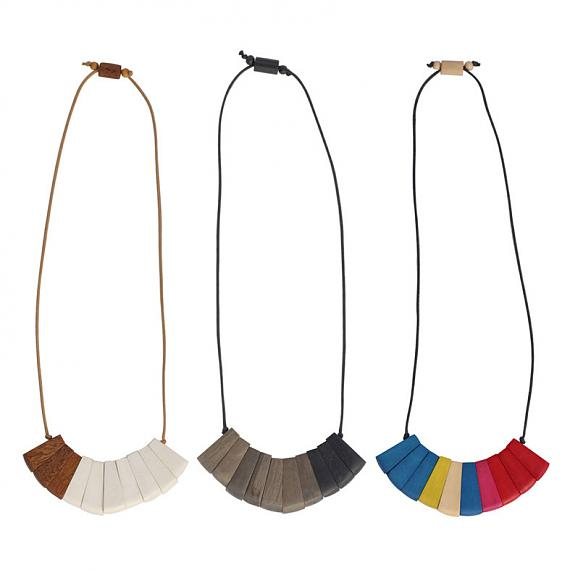 Handmade Fan Necklaces designed in Melbourne by mooku