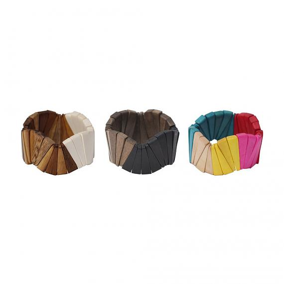 Wooden Fan Bangles designed in Melbourne by mooku