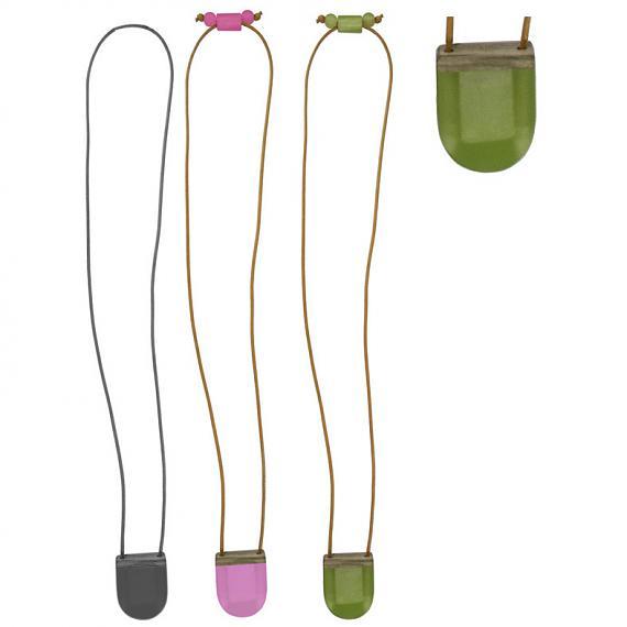 Mini Secrets 'U' Locket Resin and Wood - Pink, Black or Green, designed in Melbourne by mooku