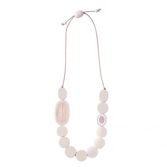 Resin Pebble Necklace - Cream | Bamboo, designed in Melbourne by mooku