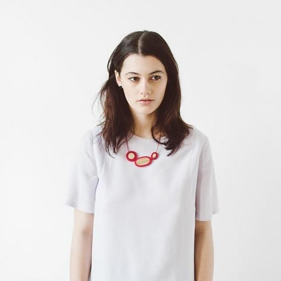 Resin Rockpool Necklace - Red | Bamboo designed in Melbourne by mooku