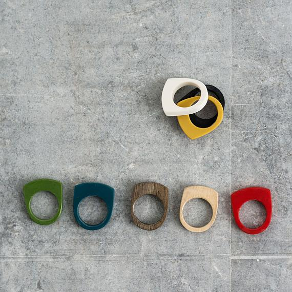 Stacking Resin Rings designed and made in Australia by mooku
