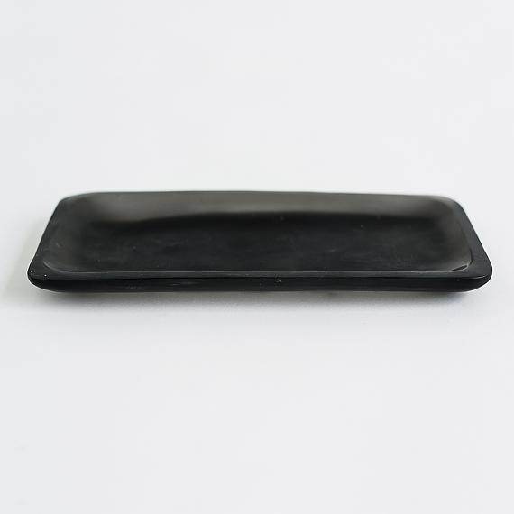 Trinket Tray - Black Resin - designed in Melbourne by mooku