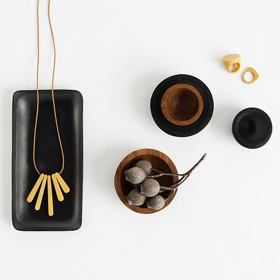 Trinket Bowls in Wood and Resin - handmade in Melbourne by mooku