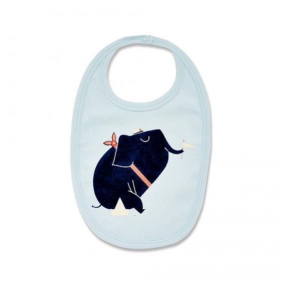 Nautical Elephant Baby Bib designed in Australia by Wilson & Frenchy