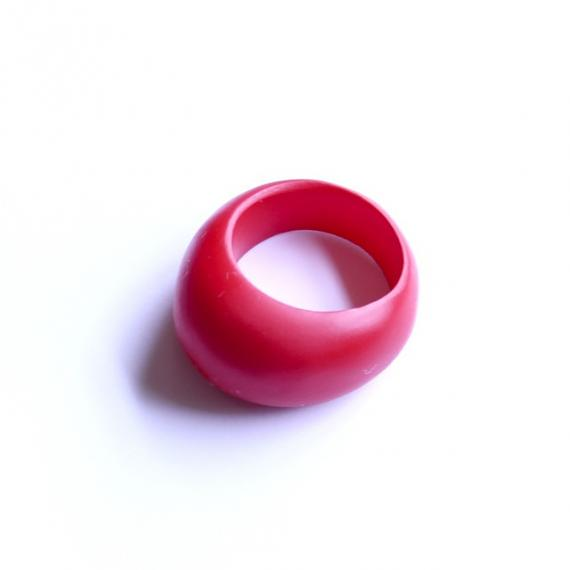 Oval Resin Ring - Red designed and made in Australia by mooku