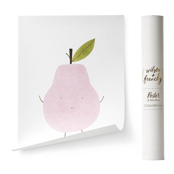 Limited Edition Little Pear A2 Poster designed in Australia by wilson & frenchy