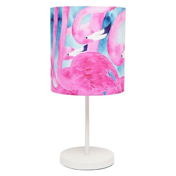 Flamingo Fabric Table Lamp - Metal Base - designed in Australia by Micky & Stevie