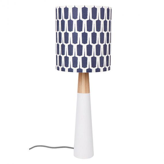 Woodblock Fabric Table Lamp - designed in Australia by Micky and Stevie