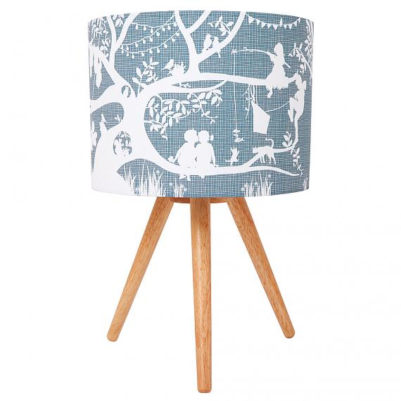 Treehouse Grey Fabric Table Lamp (Turned OFF) - designed in Australia by Micky & Stevie