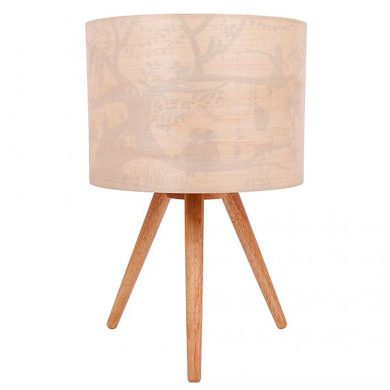 Treehouse Timber Table Lamp (Turned OFF) - designed in Australia by Micky & Stevie