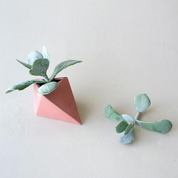 Ceramic Diamond Planter - Horizontal Turkish Delight designed in Australia by Love Hate