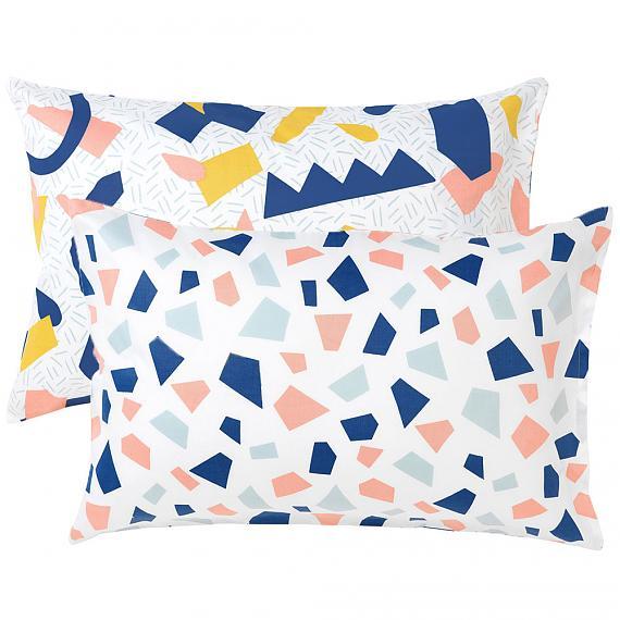 Tutti Frutti Set of 2 Reversible Pillowcases designed in Melbourne by Goosebumps