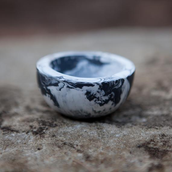 Trinket Bowl Marble Resin - Small - designed in Australia by mooku