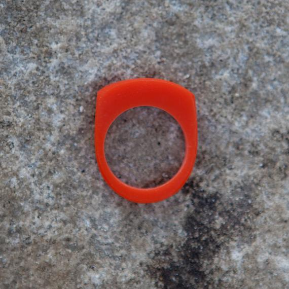 Stacking Ring - Orange Resin - designed in Australia by mooku