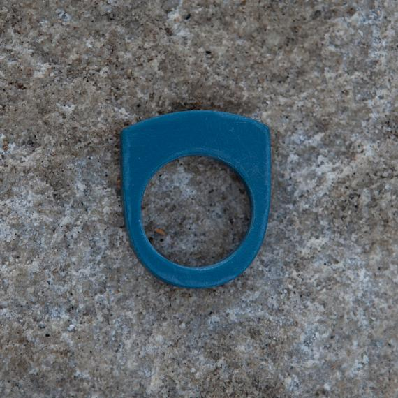 Stacking Ring - Steel Blue Resin - designed in Australia by mooku