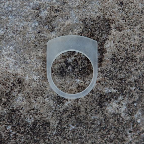 Stacking Ring - Transparent Resin - designed in Australia by mooku