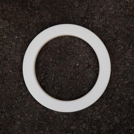 Resin Bangle - White - designed in Australia by mooku