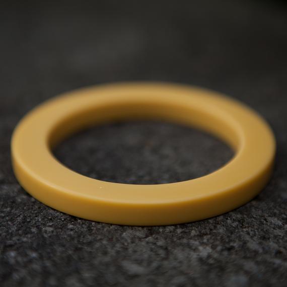 Resin Bangle - Mustard - designed in Australia by mooku