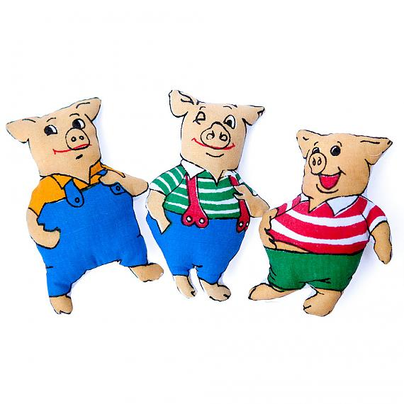Three Little Pigs 3-Way Storybook Doll Small - designed in Australia by Growing World