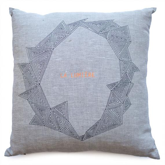 La Lumiere Cushion designed and made in Australia by me and amber