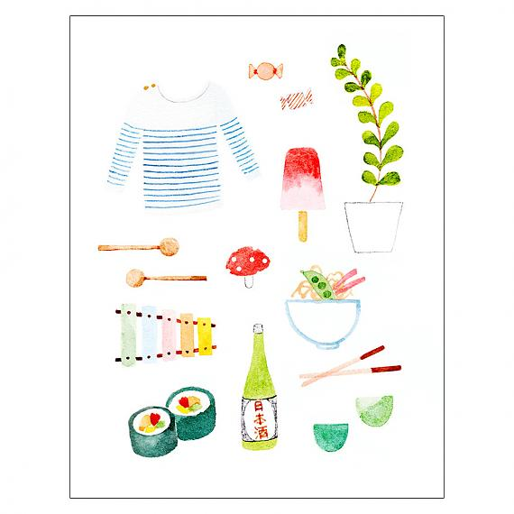 Summer in Japan A4 Print made in Australia by Amy Borrell