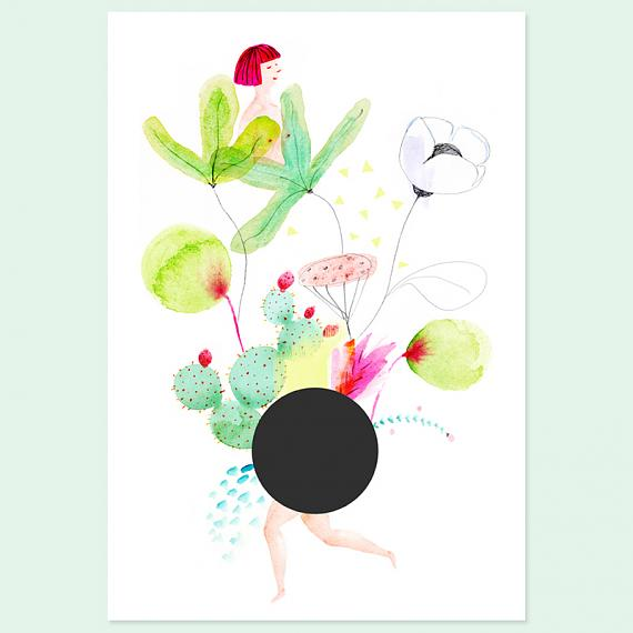 NØGEN A4 Print made in Australia by Amy Borrell