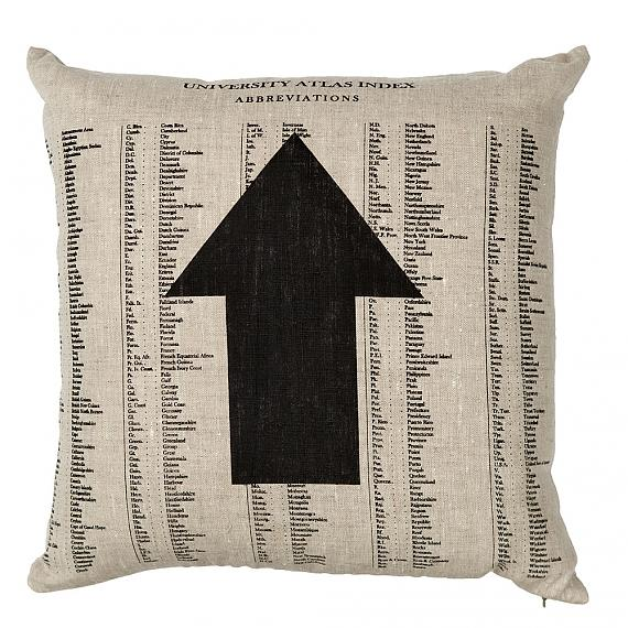 Arrow Cushion - Natural, handmade in Australia by me and amber