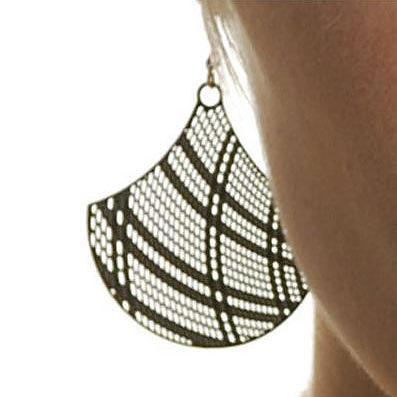 Basket Stainless Steel Earrings by Polli
